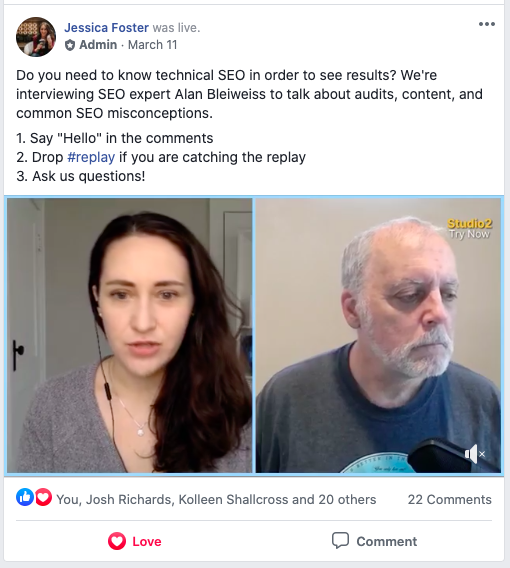 Facebook Live interview with SEO, Alan Bleiweiss