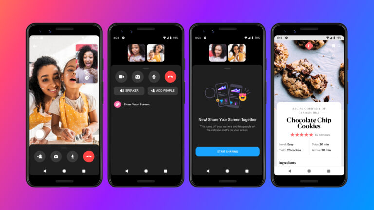 Facebook Upgrades Messenger App With Screen Sharing Capability