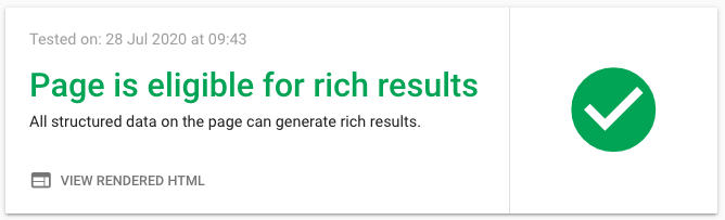 Valid AMP in rich results test tool