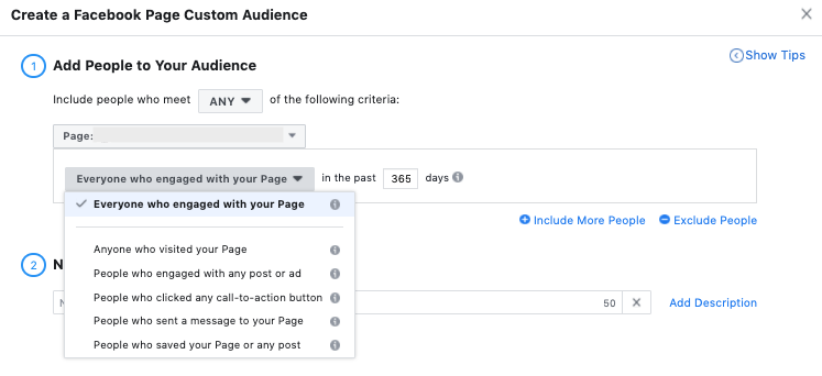 Facebook Ads Post Engagement Audiences