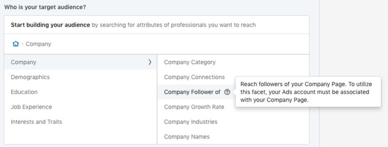 LinkedIn Company Follower Targeting