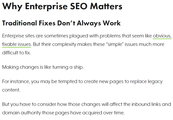 why enterprise SEO is important