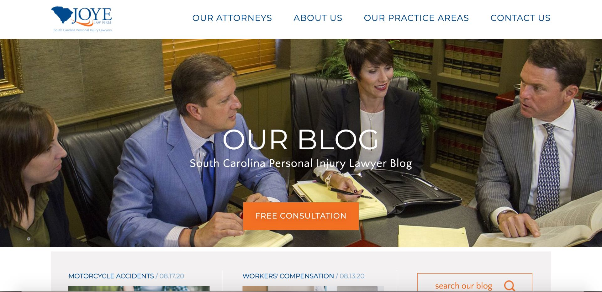 The lawyer blog helps keep content relevant to searchers