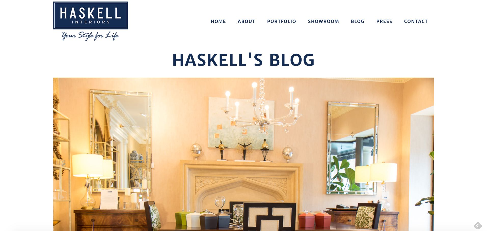 The interior designer's blog helps educate potential clients