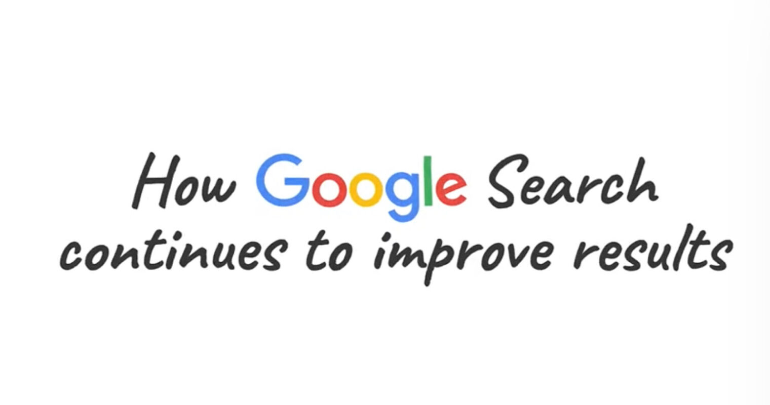 How Google Improves Search Results