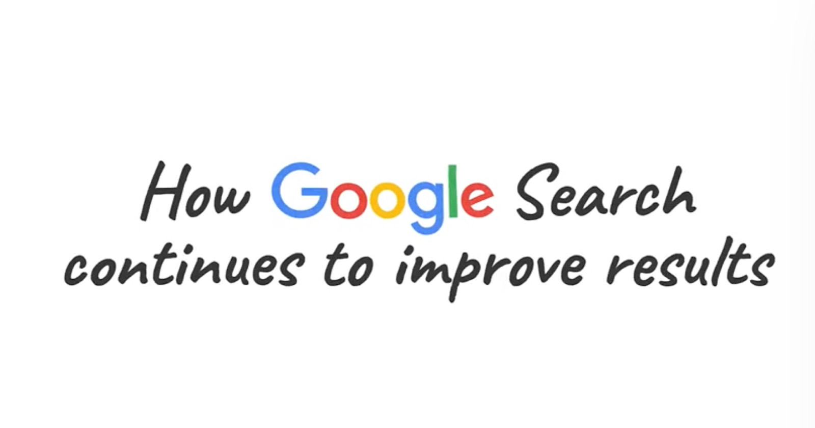 How Google Improves Search Results via @MattGSouthern