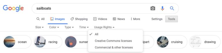 "Google Shows ""Licensable"" Badges in Image Search Results"