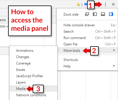 Image showing how to access media panel
