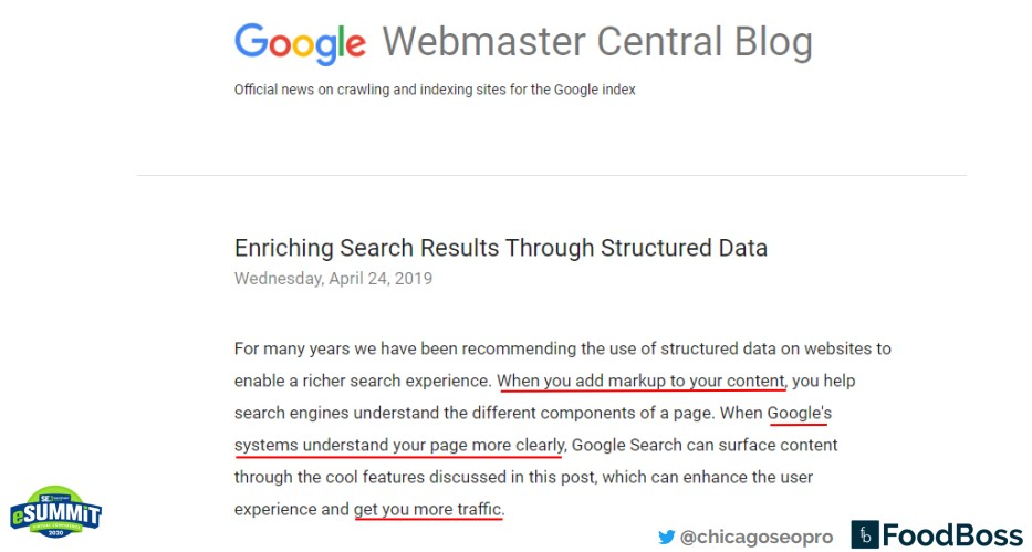 Enriching search results through structured data