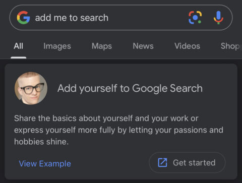 Add Me to Search: How to Create Your Virtual Google Card