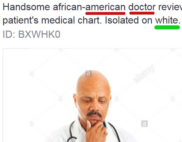 Screenshot of image of a Black doctor
