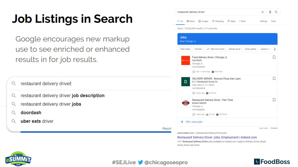 Job Listings in Search