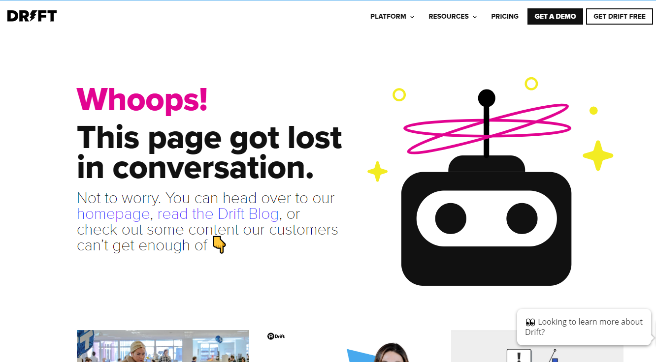 404 page dift