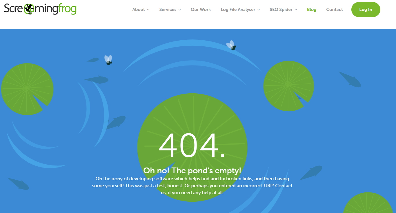 404 page screaming frog