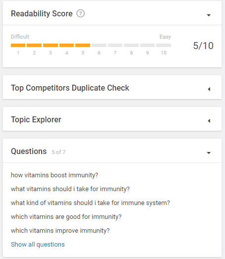 searchmetrics content experience