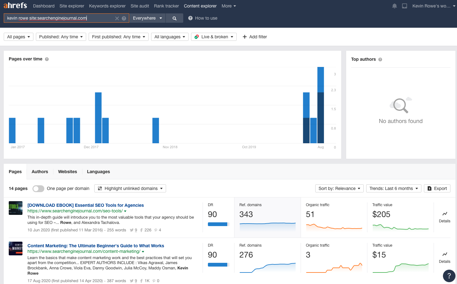 ahrefs content explore for unlinked brand mentions