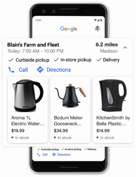 Google Search Changes Make In-Store Shopping Easier