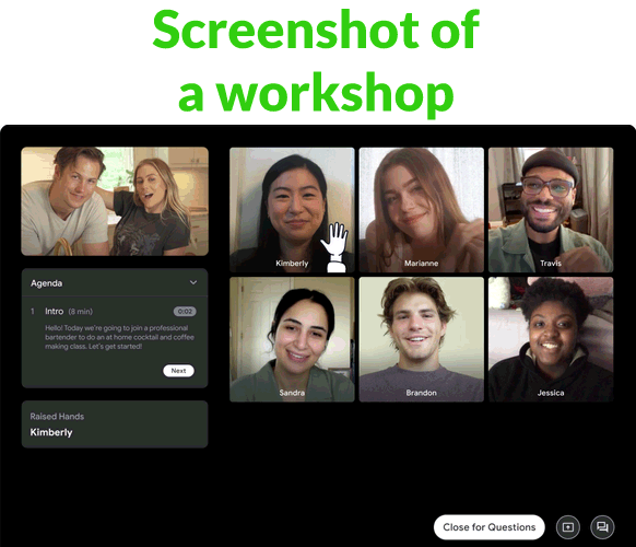 Screenshot of a Fundo workshop