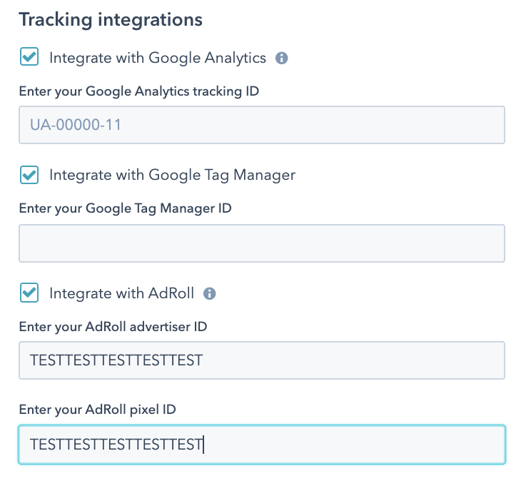 google analytics integration hubspot settings