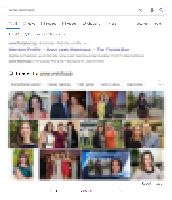 Google images in search results