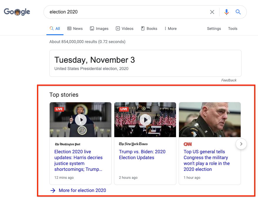Learn how to get featured in Google News.