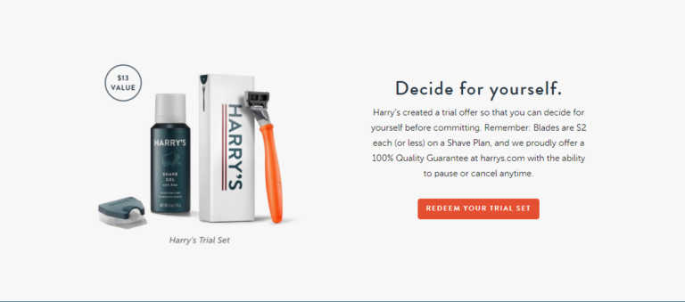 harry landing page