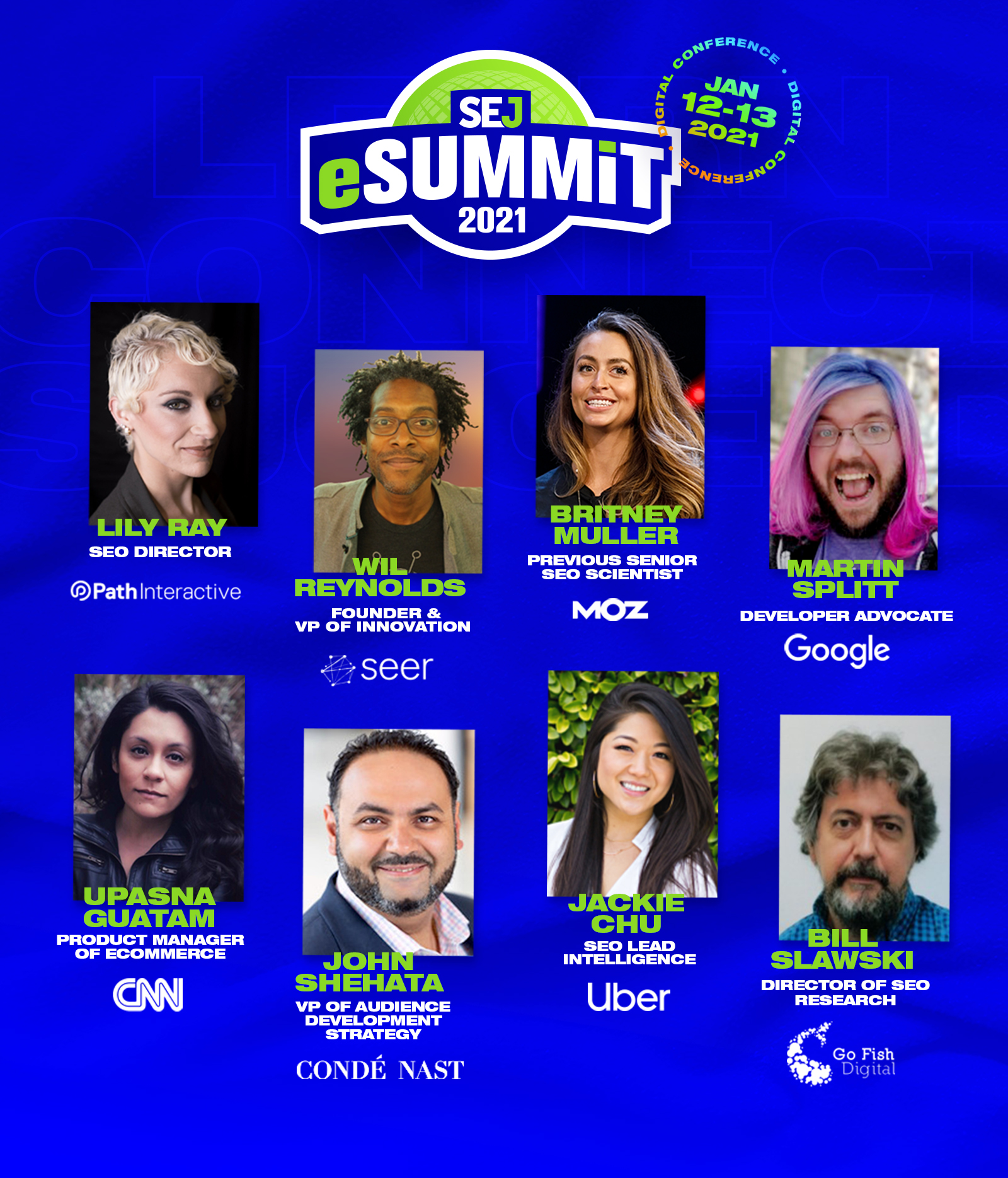 SEJ eSummit - List of Speakers Banner
