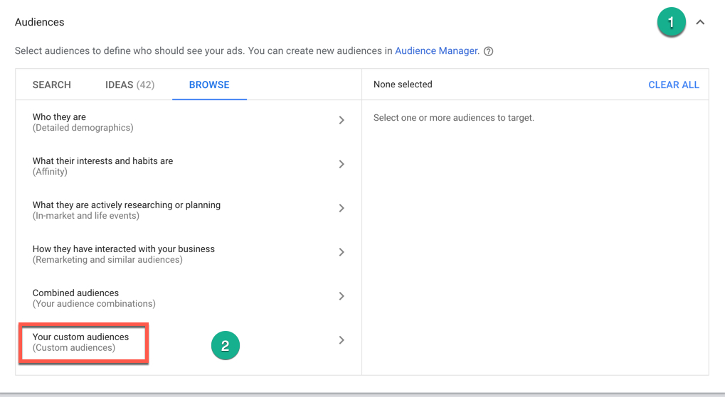 Google Combines Custom Affinity and Custom Intent Into Custom Audiences