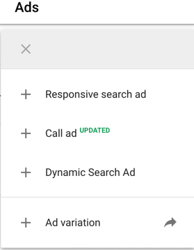 Text Ad option