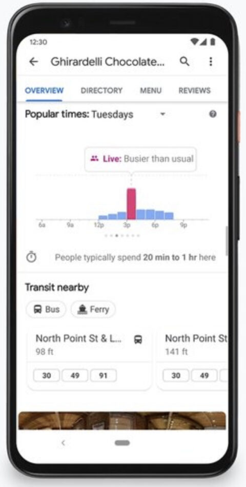 Google Expands Live Busyness Information to More Places