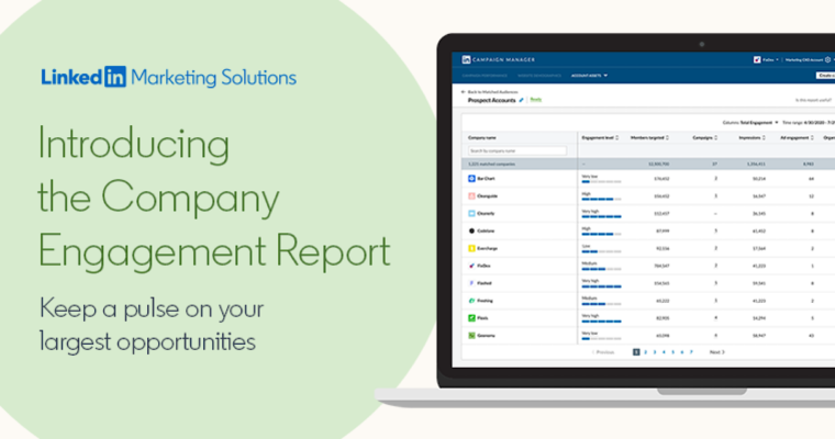 LinkedIn Launches Company Engagement Report For B2B Marketers