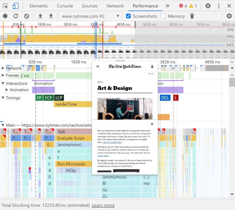 Feature Screenshots in Chrome DevTools