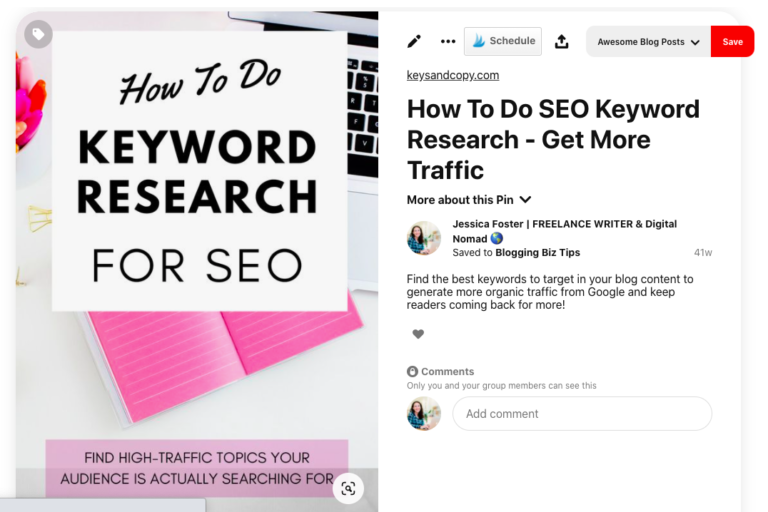 "Optimized Pin for ""How to do Keyword Research for SEO"""