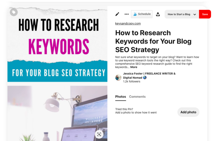 "Screenshot of ""How to do Keyword Research"" Pin"