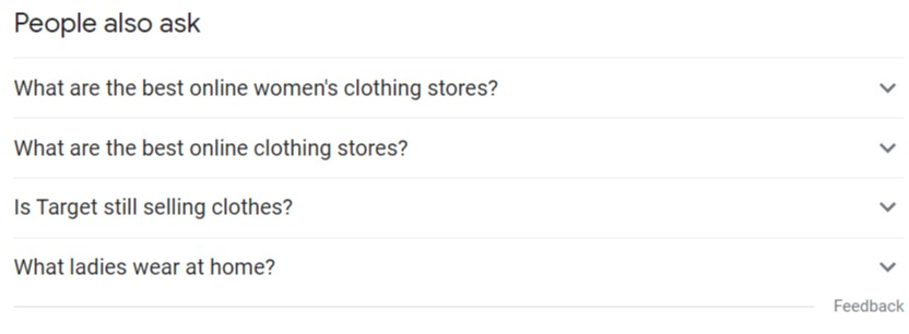 women's clothing people also ask