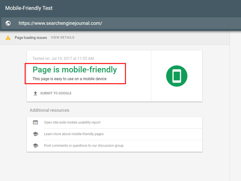 Use Google's Mobile Friendly Test to see if speed issues on mobile could be causing a drop in search rankings.