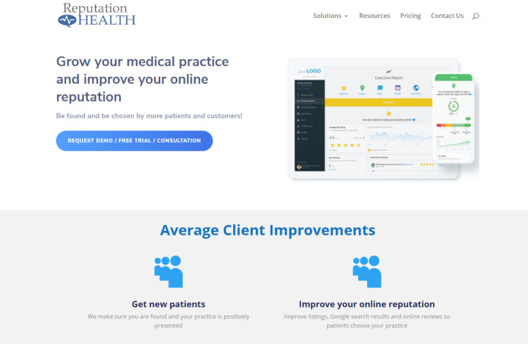 Reputation management for healthcare organizations - an example.