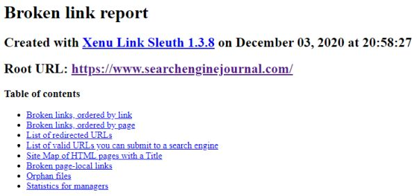 Zenu Link Sleuth, a tool to assist in SEO competitor analysis.