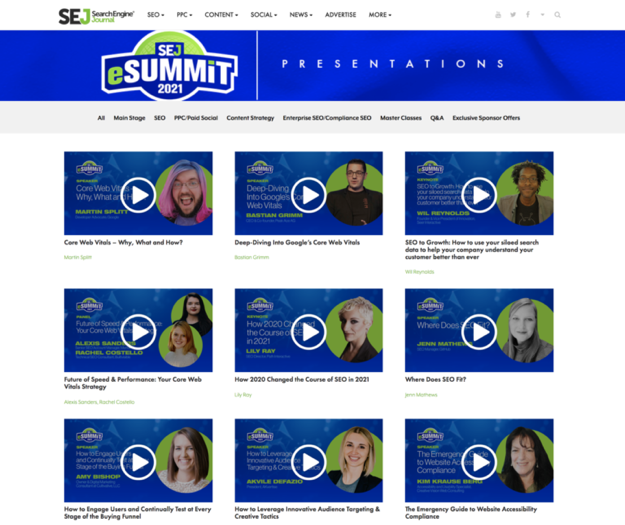 SEJ eSummit On-Demand video presentations
