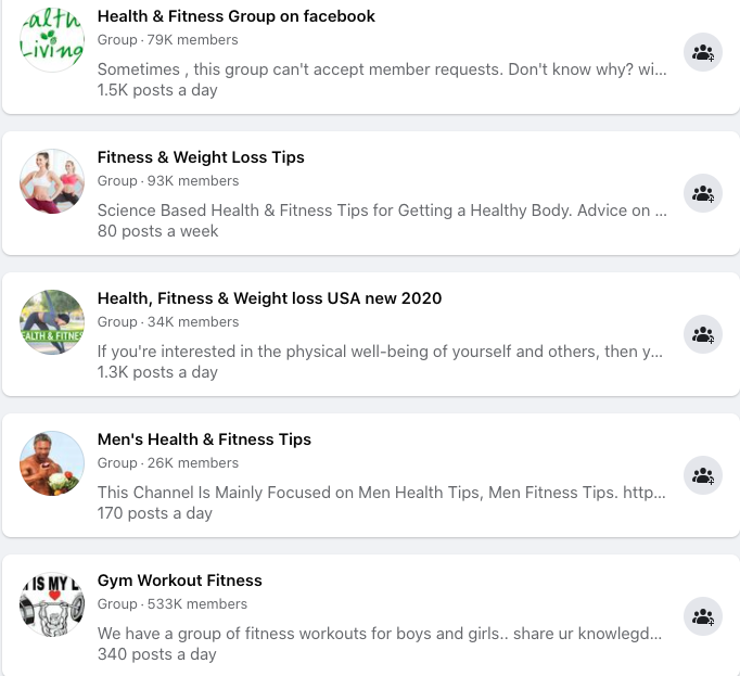 Use Groups on Facebook to connect with users.