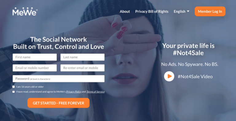 MeWe is an alternative social network focused on user privacy.