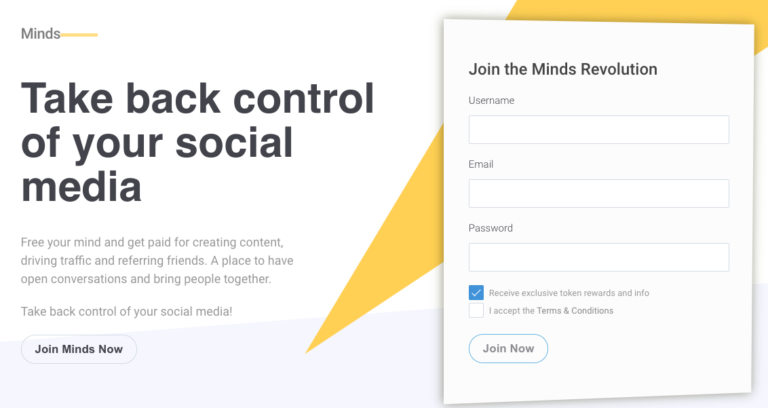 Minds tells users to 'Take back control of your social media""