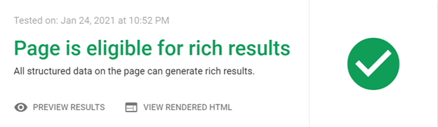 Is your page eligible for rich results?