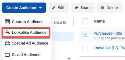 Much like Similar Audiences in Google, Facebook can look at a specified group of users to find customers who behave like them.