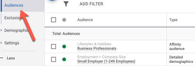 Use the Google Ads audiences section for psychographic marketing insights.