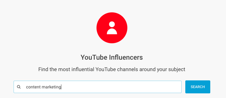 Find YouTube influences in BuzzSumo.