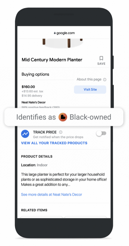 Google Updates Shopping Search Results With Black owned Label