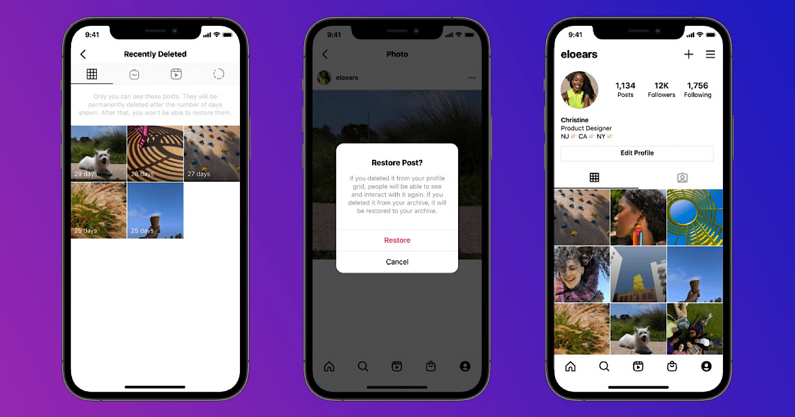 Instagram Adds 'Recently Deleted' Folder For Removed Content - Search Engine Journal