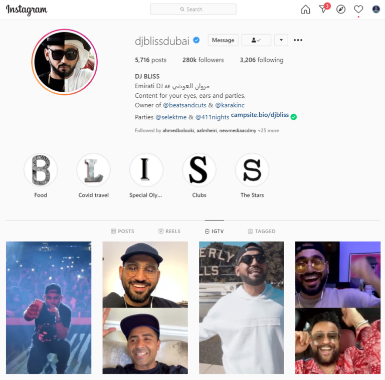 DJ Bliss IGTV videos