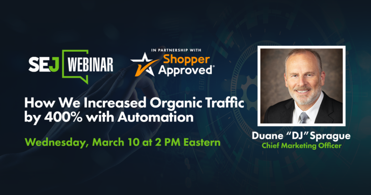 How We Increased Organic Traffic by 400% with Automation